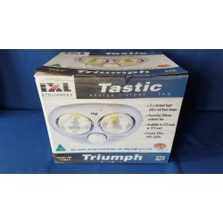 IXL CLASSIC TRIUMPH 3 IN 1 BATHROOM TASTIC 2 X 275W HEAT LAMPS + EXHAUST